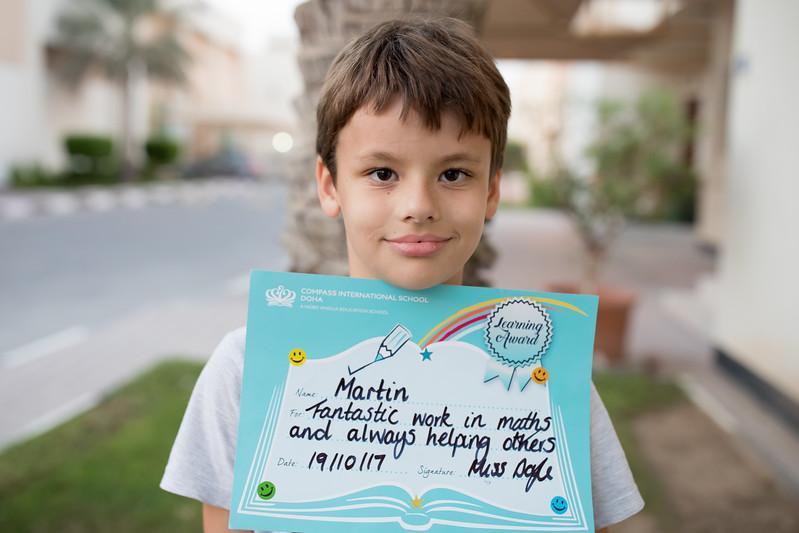 Martin Jaros school certificate