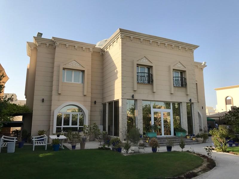 Katarský dům návštěva na zahradě