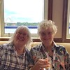 Our friends Linda and Wyn during happy hour