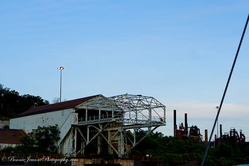 I call these next pictures of abandoned factories - The flyover zone - these are all on the West VA side of the Ohio