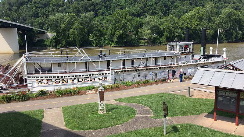 Ohio River Museum - the W.P. Snyder is a sternwheel, steam driven, orginally built as the Canegie Steel Co. Towboat