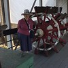 This paddle wheel was built for a pleasure craft