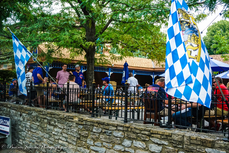More Cub fans at the Hofbrau house - Lots of German influence in this area.