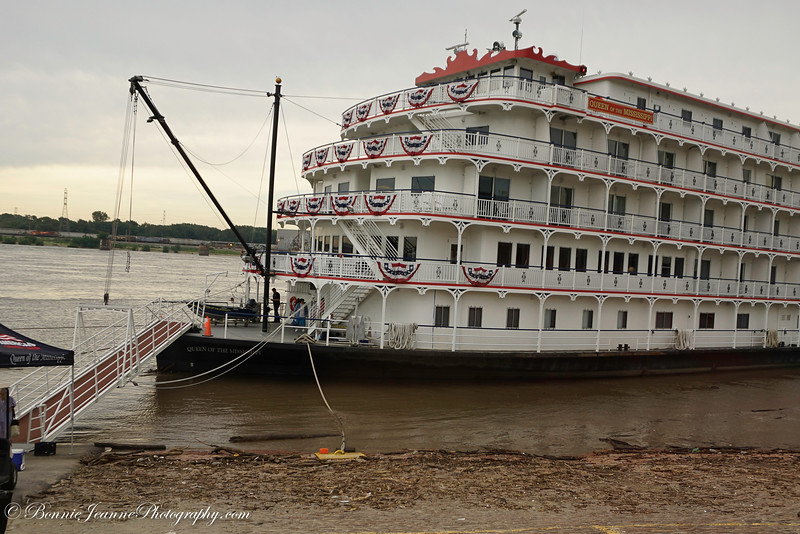 Our boat  - The Queen of the Mississippi on the muddy Mississip