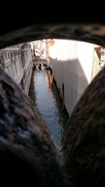 View from Bridge of Sighs, Venice.