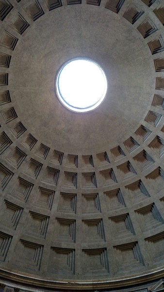 Pantheon ceiling.