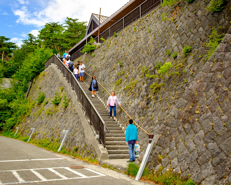 Staircase to get up to the tourist park from parking - my knees hurt just looking at this.