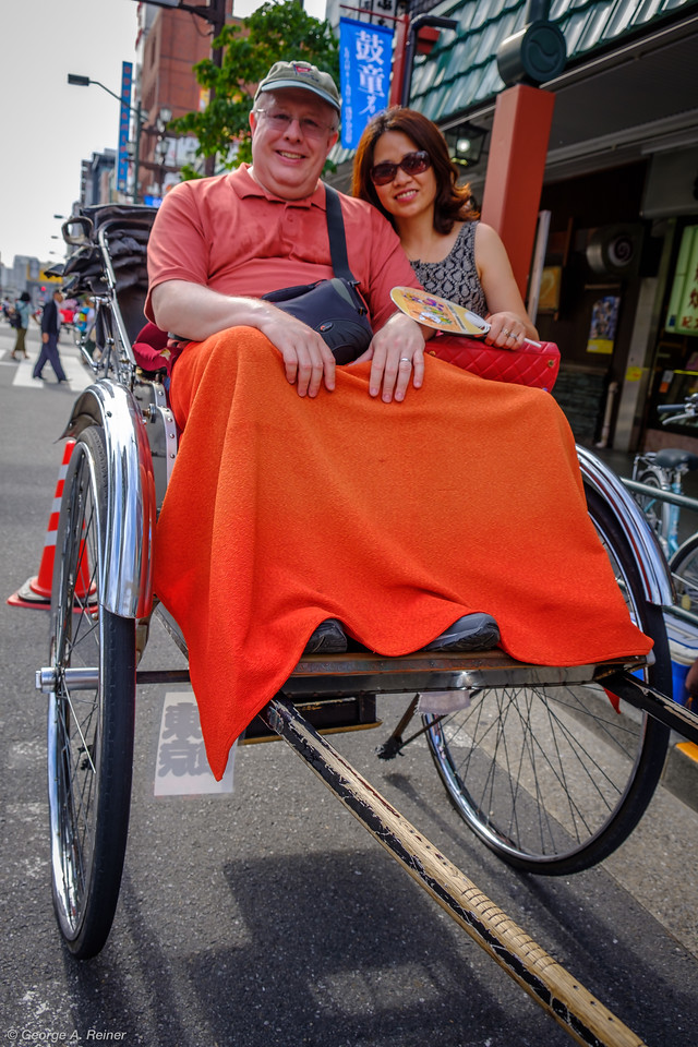 We had to try a rickshaw ride!