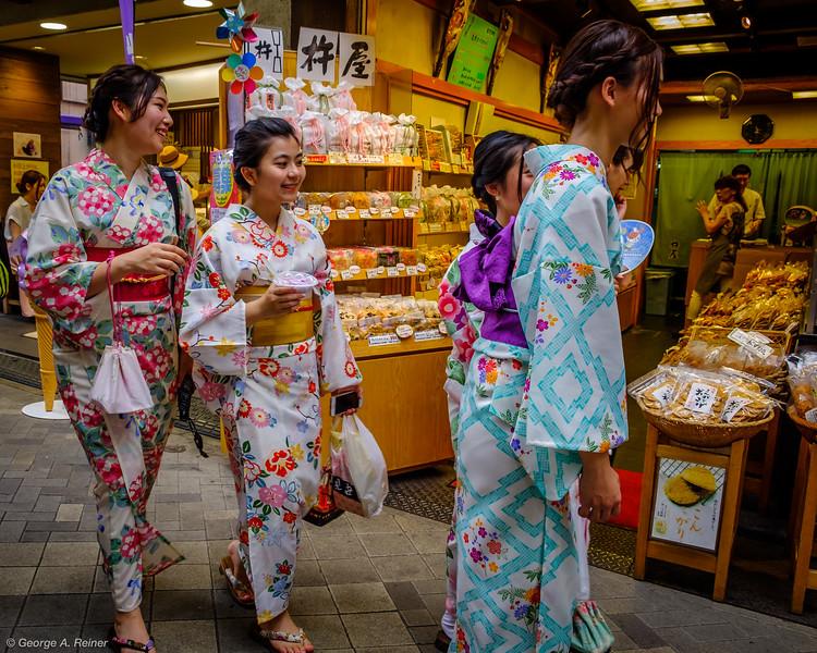 Girls in kimonos!