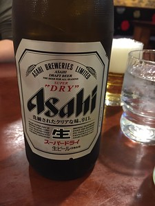 Asahi is the local brew - HQ is just down the street from our Air BnB