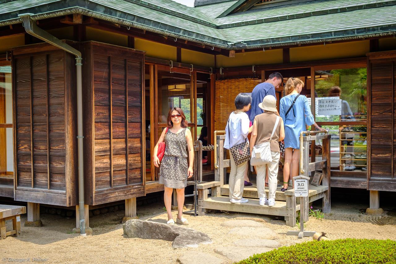 Tea House at Hama-rikyu Gardens