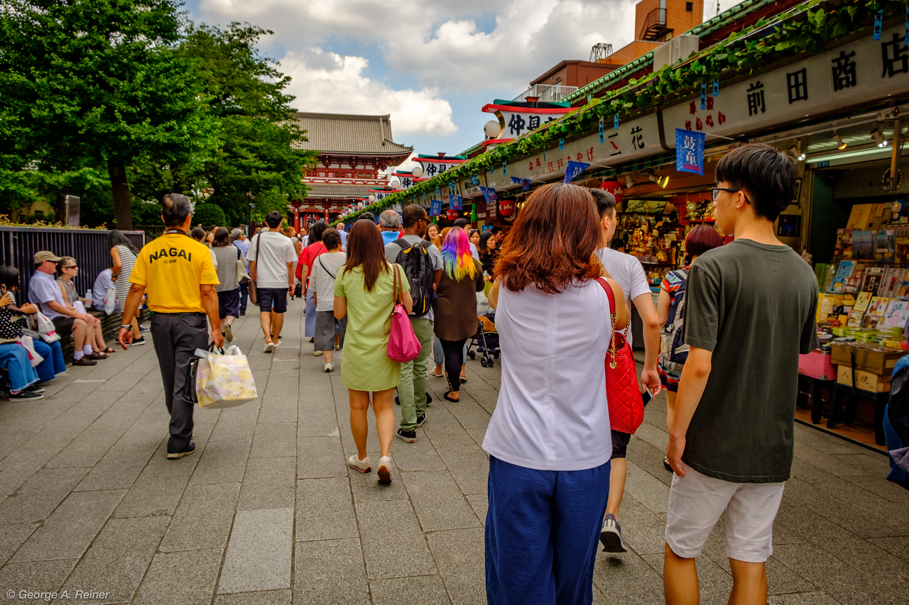 The path to Senso-ji Temple was lined with a ton of street vendors