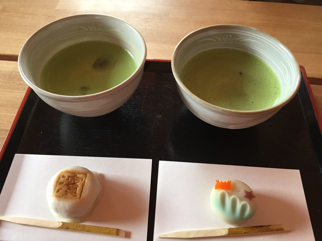 Tea from Tea Ceremony at Tea House in Hama-rikyu gardens