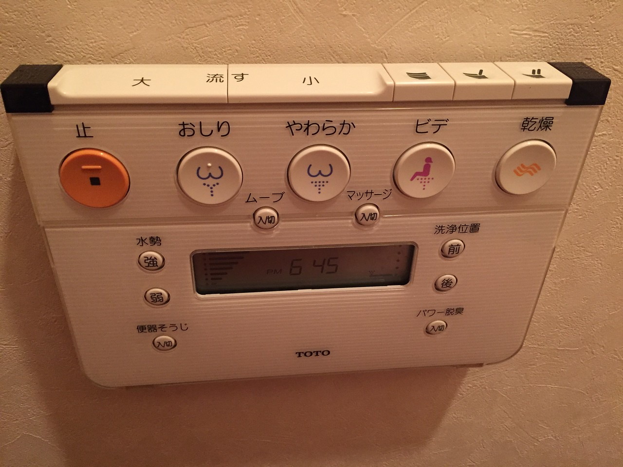 Control for the toilet in our Air BnB