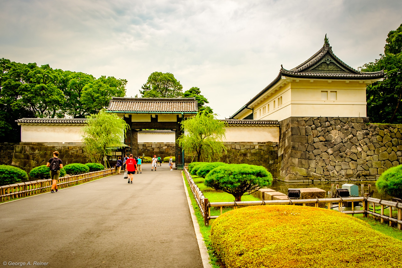Imperial Palace grounds - gate into East Gardens
