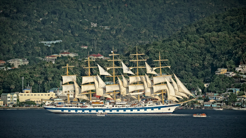 , Tall Ship in St. Lucia