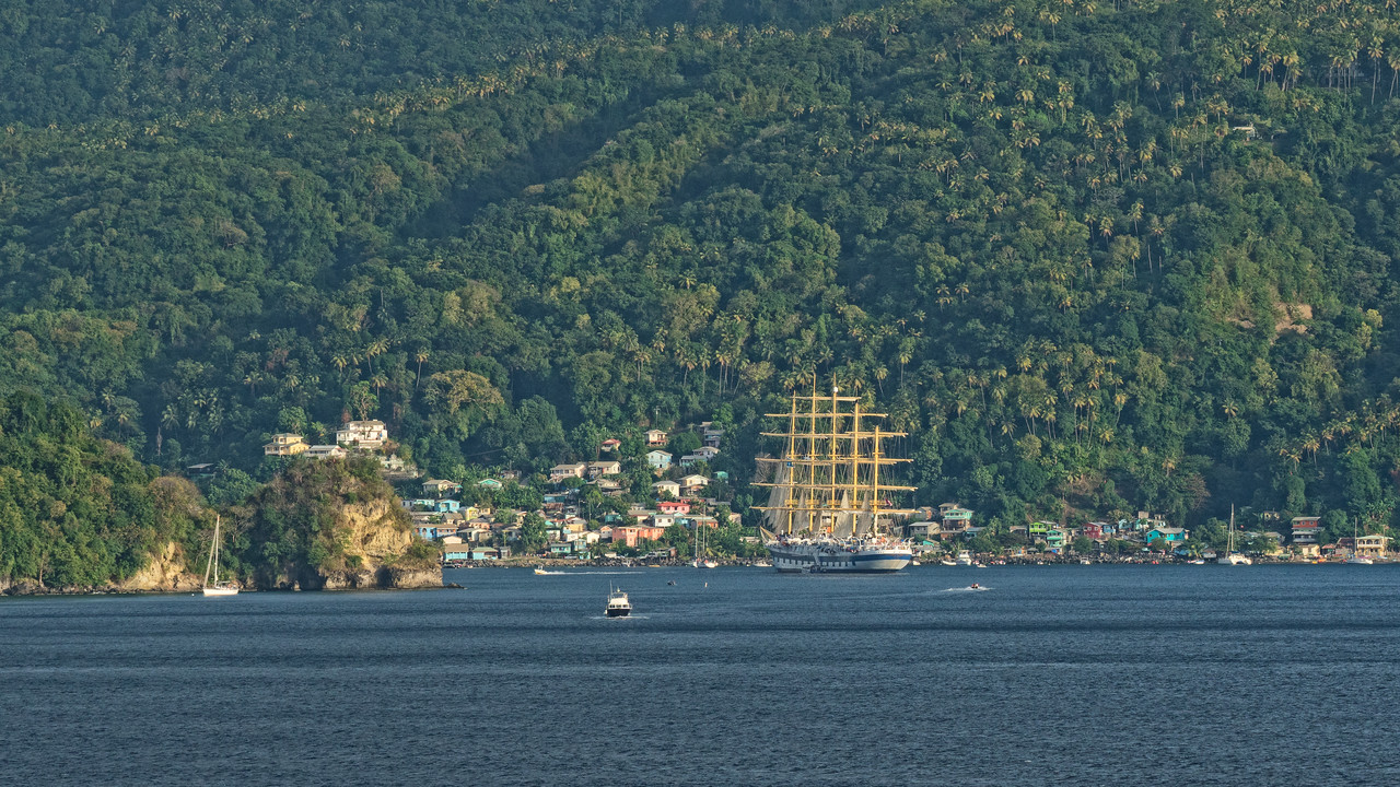 Star Clippers in St. Lucia, Souffrier Bay