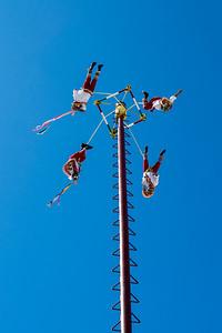 Dance of the Flyers (Voladores de Papantla) in Costa Maya, Mexico
