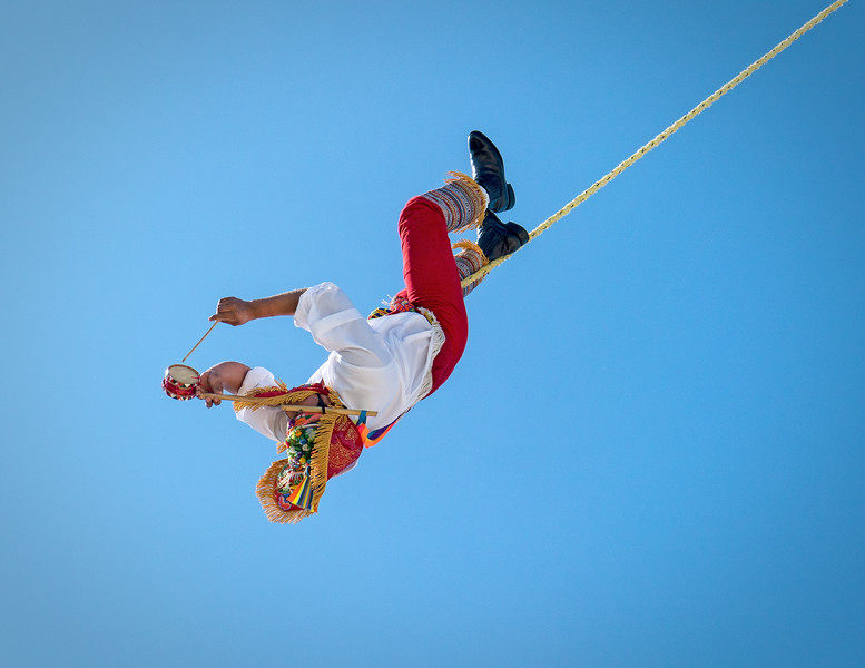 Dance of the Flyers (Voladores de Papantla) in Costa Maya, Mexico