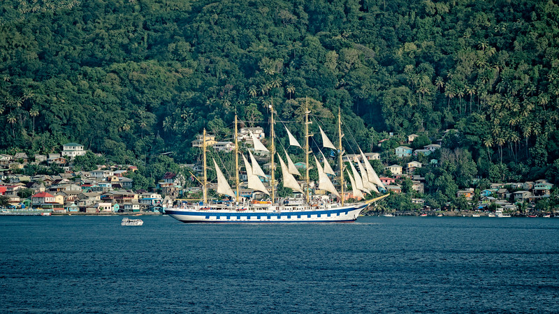 Star Clippers in St. Lucia, Souffrier Bay, Tall Ship in St. Lucia