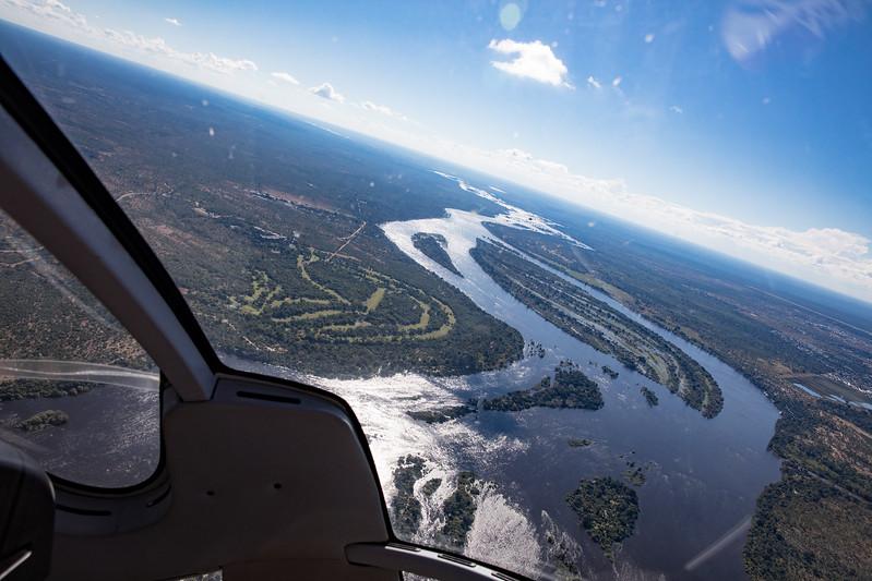 Zambia Zambezi helicopter Victoria Falls