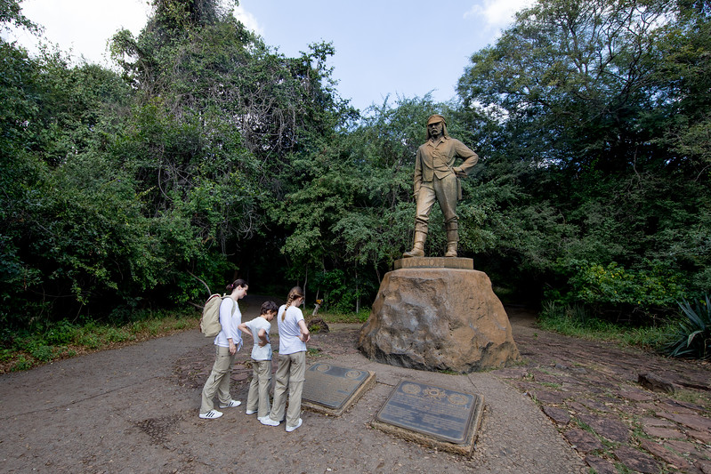 Zimbabwe Livingstone statue Victoria Falls