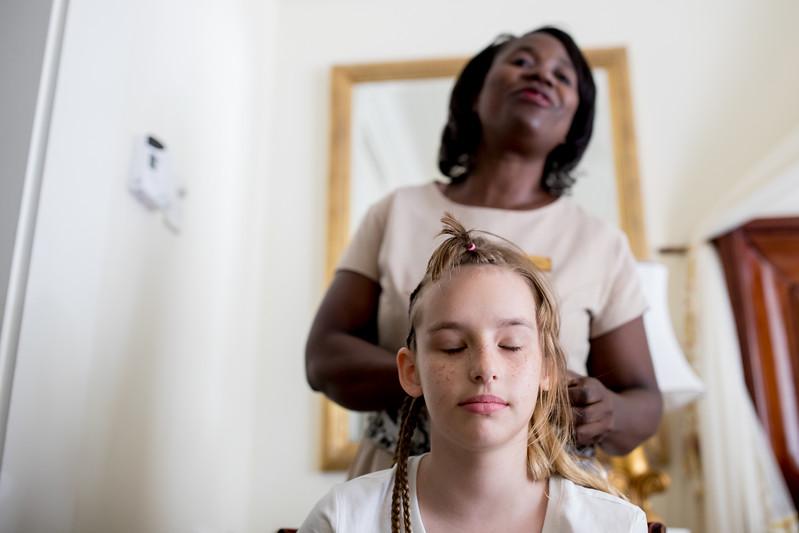 Timea Jarosova braids Africa Zambia Royal Livingstone hotel