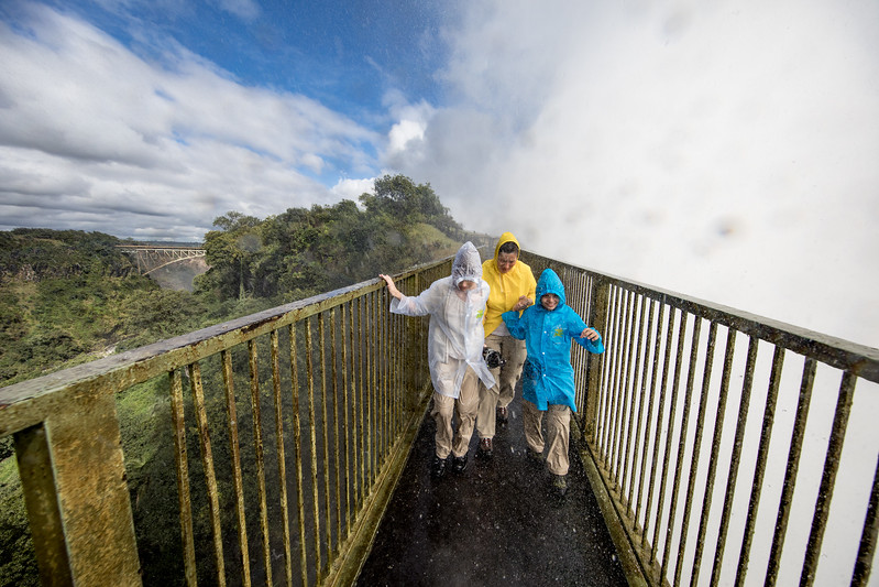 Victoria Falls Knife Edge bridge white mist