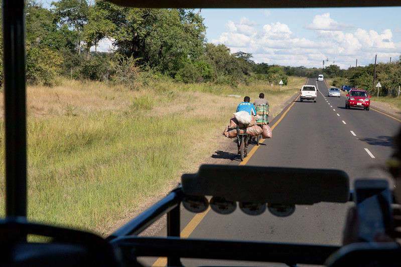 Livingstone Zambia road traffic