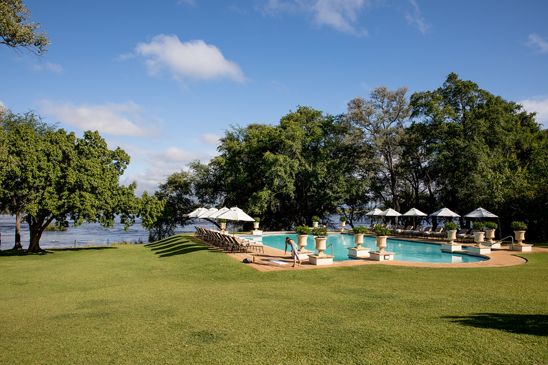 Hotel Royal Livingstone Zambia pool