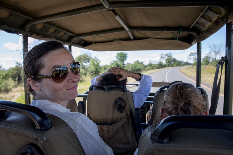 Beata Jarosova safari car Africa