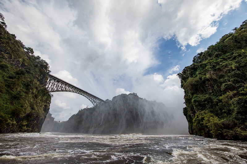 Victoria Falls Zambezi river Zambia
