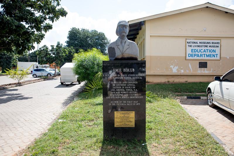 Emil Holub statue Livingstone Zambia
