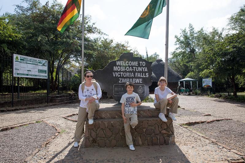 Zimbabwe Victoria Falls entrance