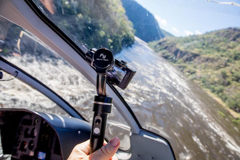 Livingstone helicopter Zambezi Feiyu stabilizer GoPro