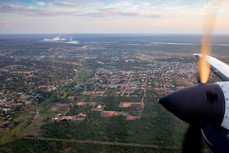 Livingstone aerial view Zambia Victoria Falls