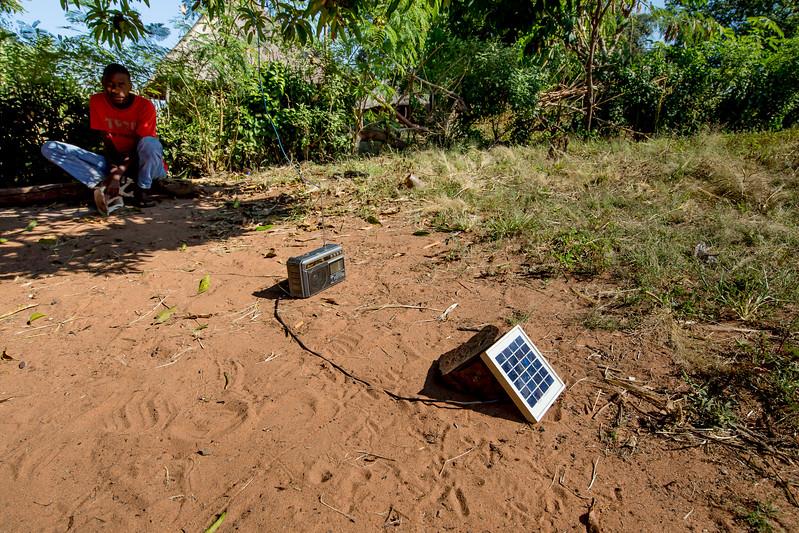 Mukuni village Africa Zambia radio