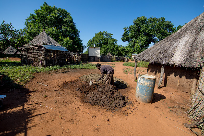Mukuni village Africa Zambia