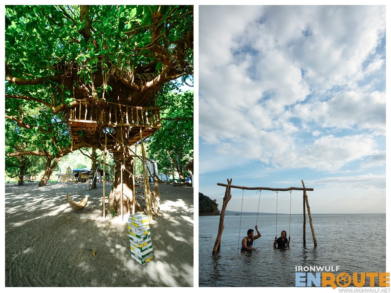 Treehouse and the sea swing