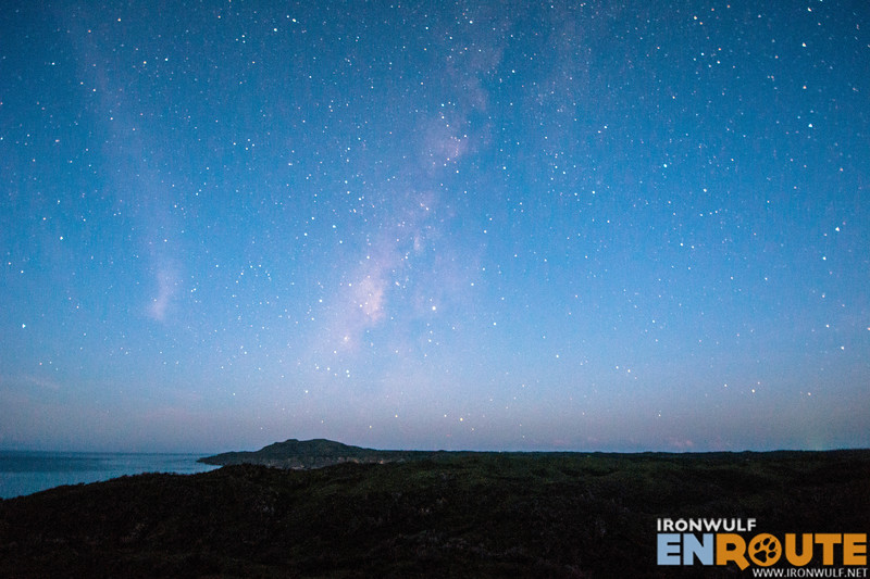 Fading milky way over Mt Riposed