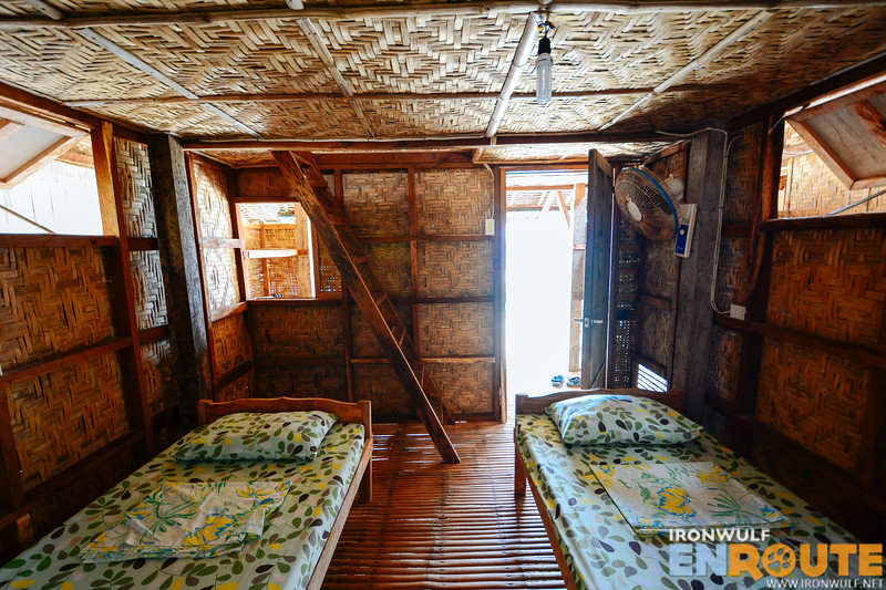Inside the Php 1,500 enclosed cottage