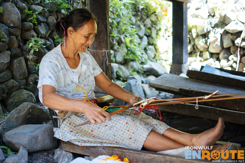 Backstrap weaving or Tinakud