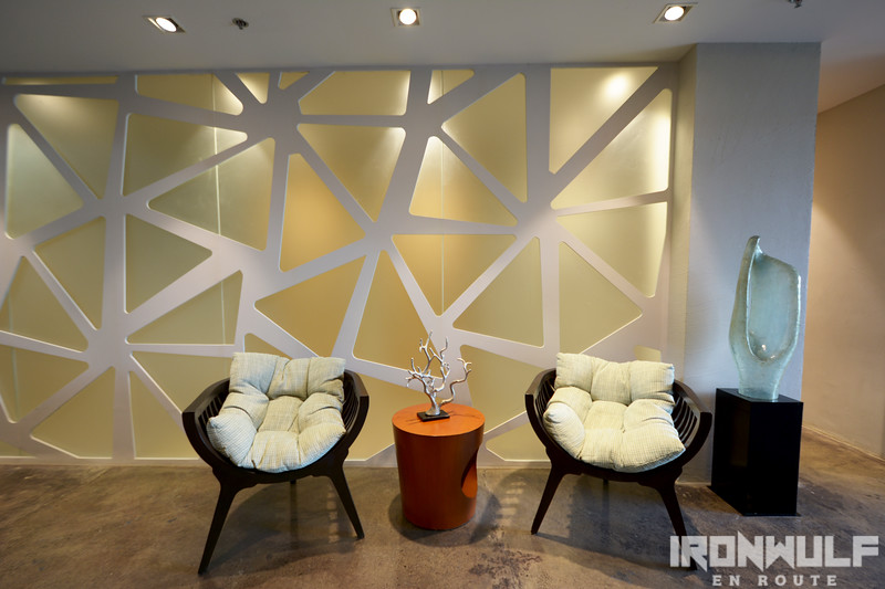 Organic design patterns used throughout the hotel interior