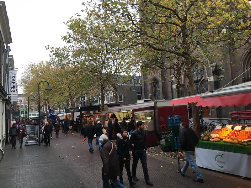 Saturday street market - mostly, a farmer's market.