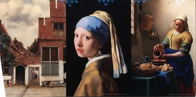 Johannes Vermeer exhibit in the Old Church in Delft.