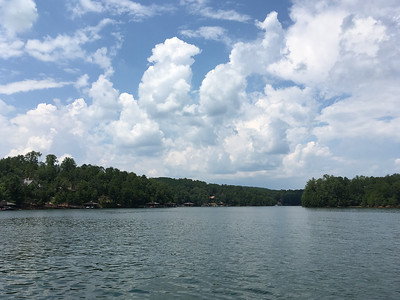 Cumulous clouds build as the total eclipse approaches -- we wonder whether we'll get to see it!