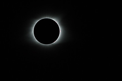 Totality!  The corona is now visible. Solar eclipse 2017, viewed from Lake Keowee South Carolina.