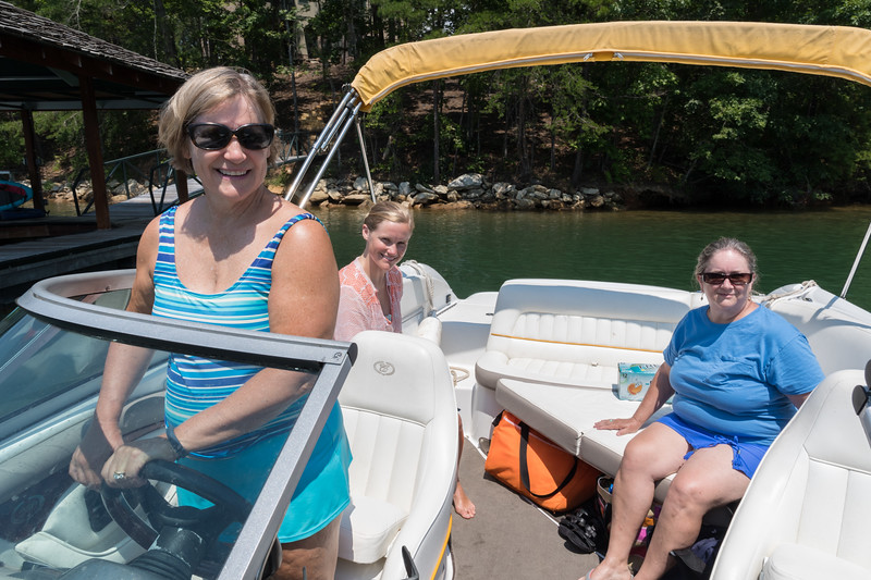 Karen, Ashley, and Pam head out to view the eclipse.