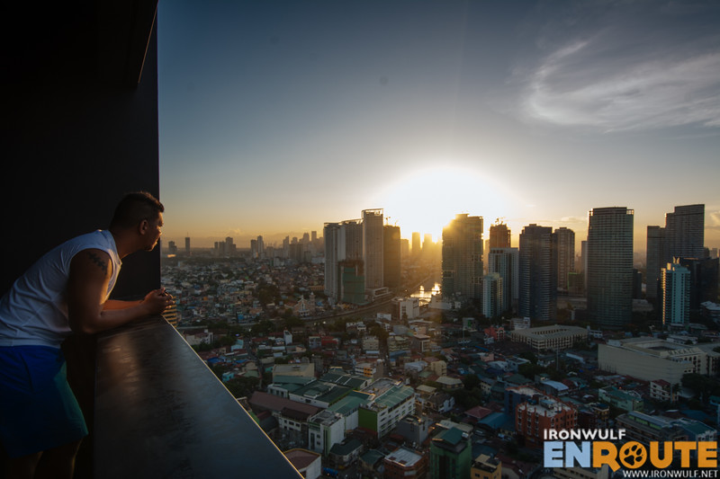 Witness the sunrise over Makati