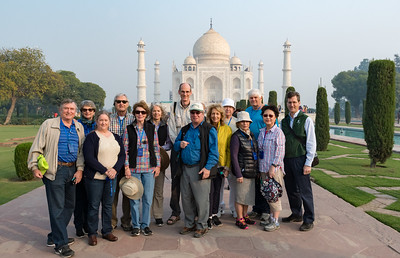 Dartmouth group at the Taj Mahal.